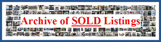 Archive of Sold Used Woodworking Machinery