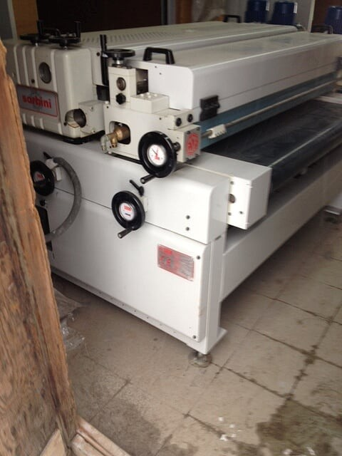 Used Sorbini Roller Coater - Model T/20 SP1
